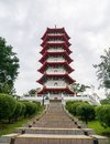 7 Storey Pagoda in Chinese Garden Singapore Royalty Free Stock Photo