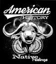 Storia americana Fotografia Stock