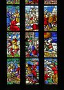 Stories of old testament stained glass window milan cathedral detail Stock Images