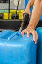 Storing oil in gallon plastic Royalty Free Stock Image
