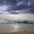Storm above the ocean. Royalty Free Stock Photo