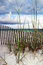 Before the storm a beach view from destin florida a moves in Royalty Free Stock Photos