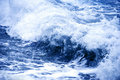 Storm blue wave Stock Images
