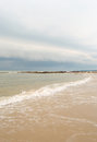 Storm brewing at the beach Royalty Free Stock Photo
