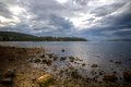 Storm brewing woodbridge south tasmania the calm before the Royalty Free Stock Photo