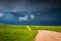 Storm building up in the prairie Royalty Free Stock Photo