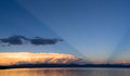 Storm Cloud Natural Searchlight Yellowstone Lake Absaroka Mountains Royalty Free Stock Photo