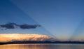 Storm Cloud Natural Searchlight Yellowstone Lake Absaroka Mountains Royalty Free Stock Photo