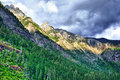 Storm clouds above the mountains Royalty Free Stock Photo