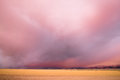 Storm Clouds Gather Great Basin Utah Near Milford Royalty Free Stock Photo