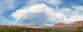 Storm clouds over desert an approaching and rain the red sandstone vista of vermilion cliffs park in utah and arizona Royalty Free Stock Photo