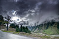 Storm clouds over mountains of ladakh, Jammu and Kashmir, India Royalty Free Stock Photo