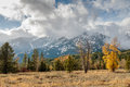 Storm Clouds Over the Tetons Royalty Free Stock Photo