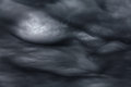 Storm clouds rare ball lightening inside dramatic Royalty Free Stock Photography