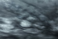 Storm clouds rare ball lightening inside dramatic Royalty Free Stock Photo