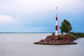 Storm is comming over Lake Balaton Royalty Free Stock Photo