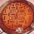 Storm drain Royalty Free Stock Photo