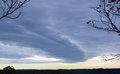 Storm front over forest Royalty Free Stock Photo