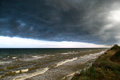 Storm front over water Royalty Free Stock Photo