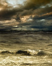 Storm grim fantastic landscape with a Royalty Free Stock Image
