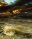 Storm grim fantastic landscape with a Royalty Free Stock Photos
