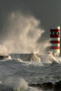 Storm in the lighthouse Royalty Free Stock Image