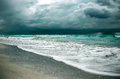 Storm in ocean Royalty Free Stock Photo