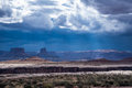 Storm over the desert in canyonlands national park spring moving through maze district of utah as seen from candlestick campsite Stock Photography