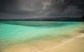 Storm over paradise small island nosy antafa during madagascar coastline Royalty Free Stock Photos