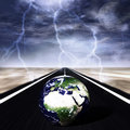 Storm on the road Royalty Free Stock Photos