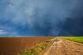 Storm Sky And Rainbow