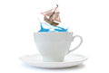 Storm in a teacup Royalty Free Stock Images