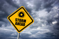 Storm warning sign clip art image Stock Image