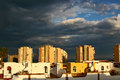 Stormclouds over Costa Del Sol Spain Stock Images