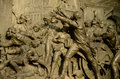 Storming of the bastille detail bronze plaque statue marianne by leopold morice at place de la republique paris france devoted to Stock Images