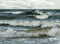 Stormy Baltic sea. Royalty Free Stock Photo