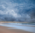 Stormy Beach scene Royalty Free Stock Image