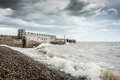 A stormy day at the beach Royalty Free Stock Photo