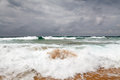 Stormy day at guincho beach in cascais near lisbon portugal Royalty Free Stock Image
