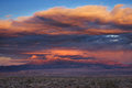 Stormy Desert Sunset Royalty Free Stock Photo