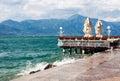 Stormy Garda lake in Italy Royalty Free Stock Photo