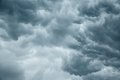 Stormy grey cloudy sky Royalty Free Stock Photo