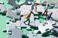 Stormy jigsaw pieces Royalty Free Stock Photo