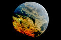 Stormy planet a model of a theoretical earth like with active weather system Royalty Free Stock Images