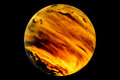 Stormy planet a model of a theoretical earth like with active weather system Stock Photos