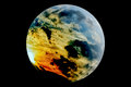 Stormy planet a model of a theoretical earth like with active weather system Royalty Free Stock Image
