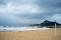 Stormy resort beach Altea Stock Photos