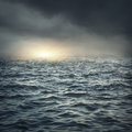 The stormy sea Royalty Free Stock Photo