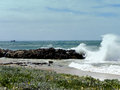 Stormy seas a seascape of a sea off port elizabeth south africa Royalty Free Stock Image