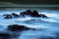 Stormy seascape scottish long exposure Royalty Free Stock Image